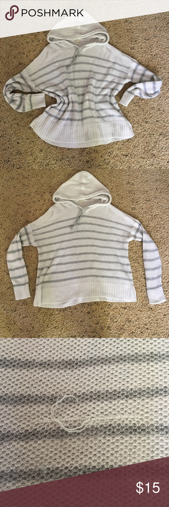 Hooded knit sweater get large and wear as a cute oversized sweater ...