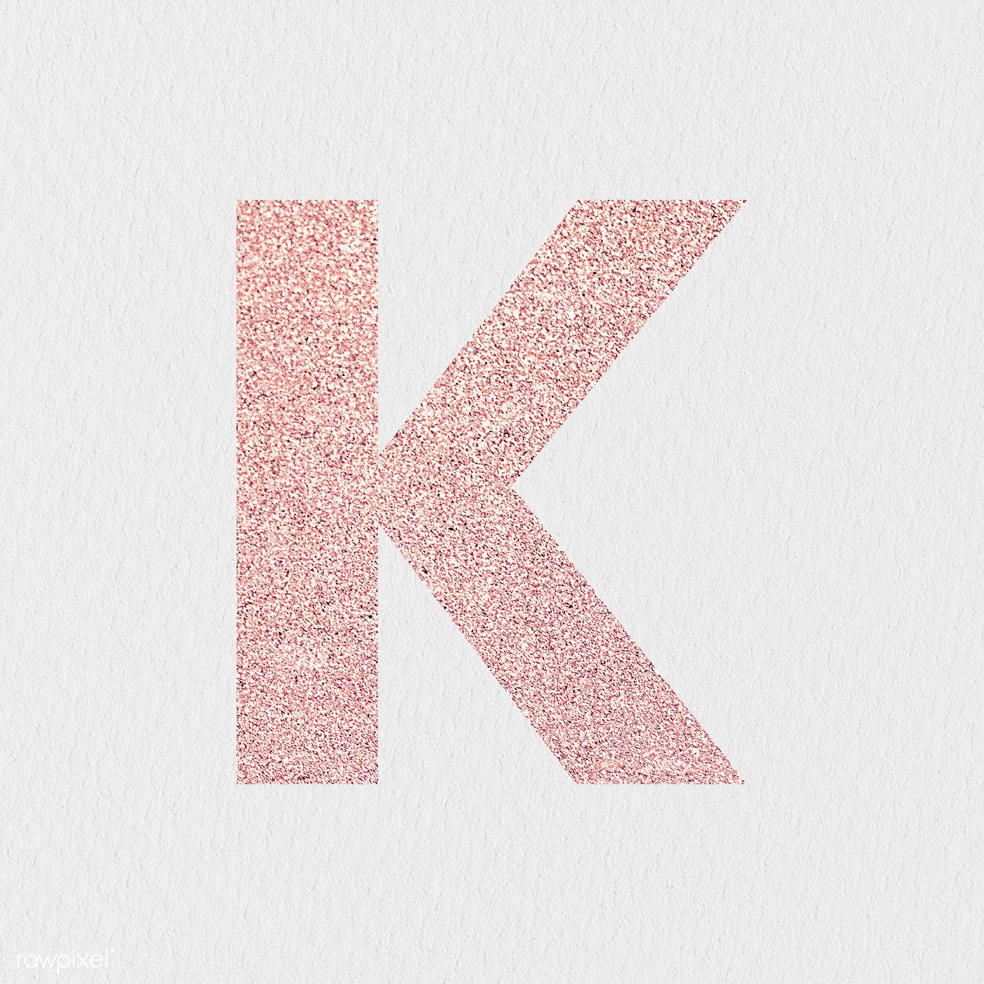 Glitter Capital Letter K Sticker Illustration Free Image By Rawpixel Com Ningzk V K Letter Images Lettering Numbers Typography