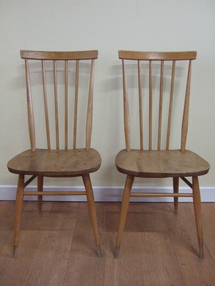 A Pair Of Two Ercol Retro Vintage 1950 S 60 S Wooden High