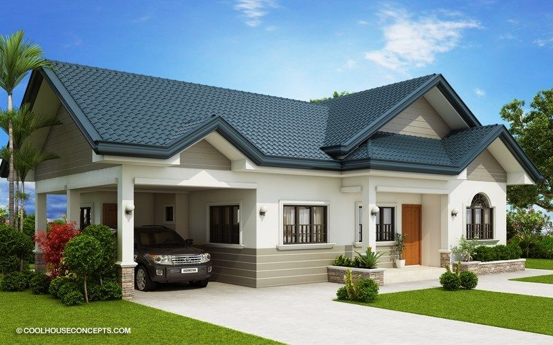 Home Design Plan 19x15m With 3 Bedrooms Home Design With Plansearch Modern Bungalow House Bungalow House Plans Bungalow House Design