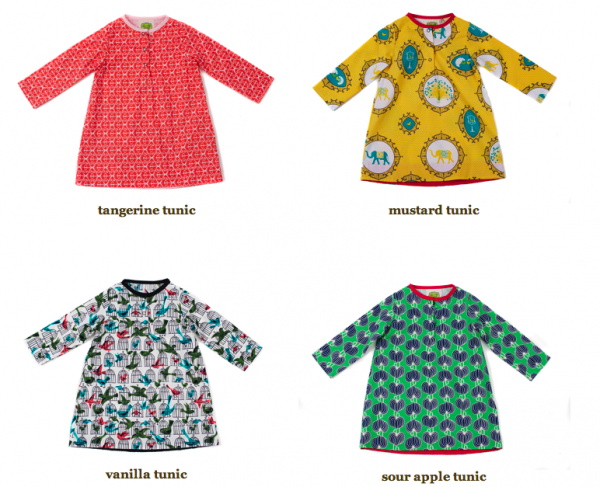 Win a beautiful girls' tunic from made in the USA boutique clothing line, Emerald August.