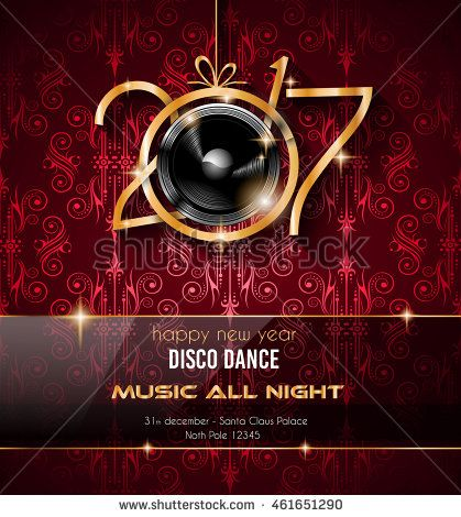 Happy New Year Party Background For Your Flyers And Greetings