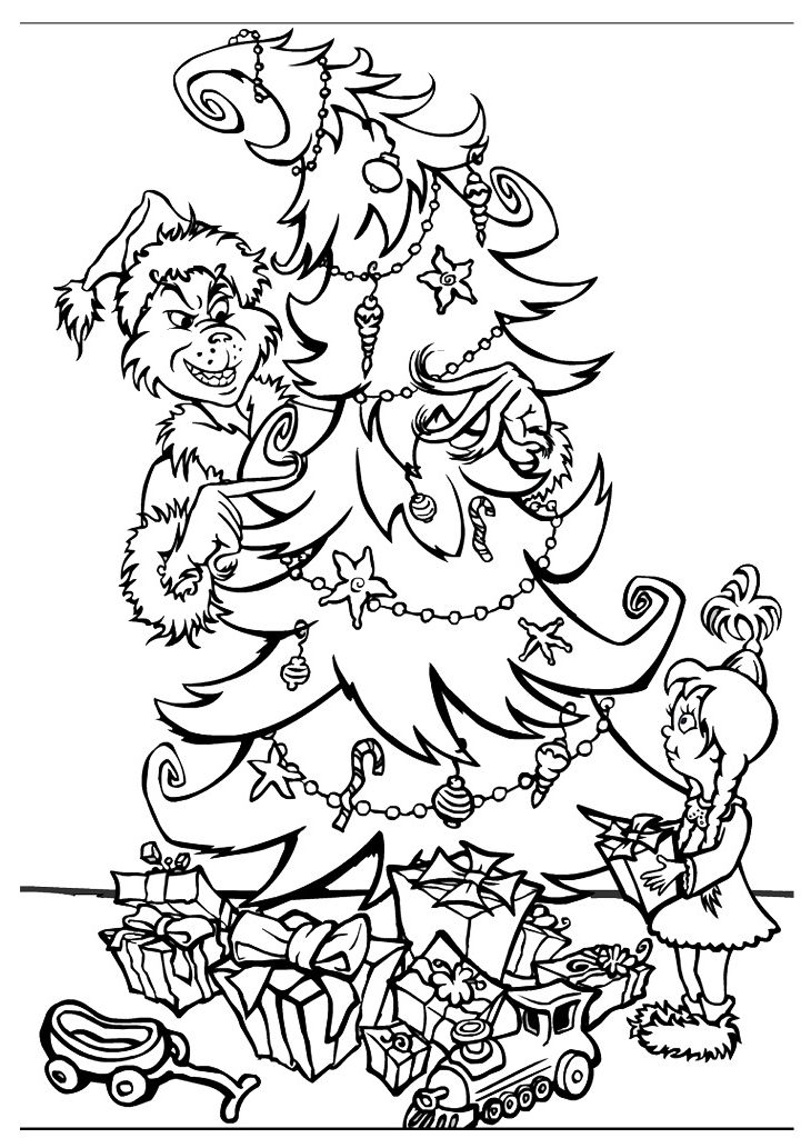 free printable grinch coloring pages for kids Free