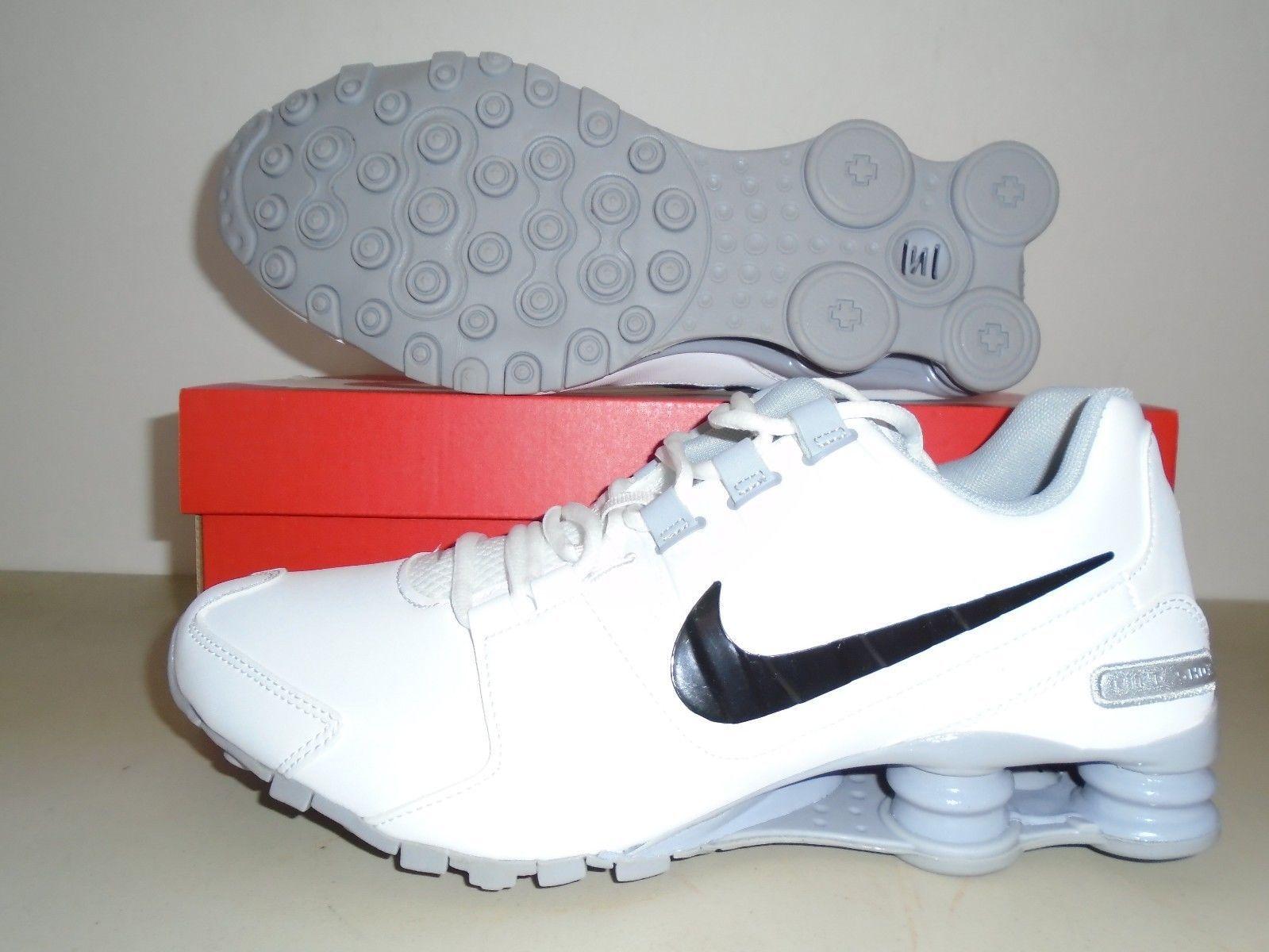 #Men #Shoes New Nike Shox Avenue Leather White Black Grey Running Shoes sz  13