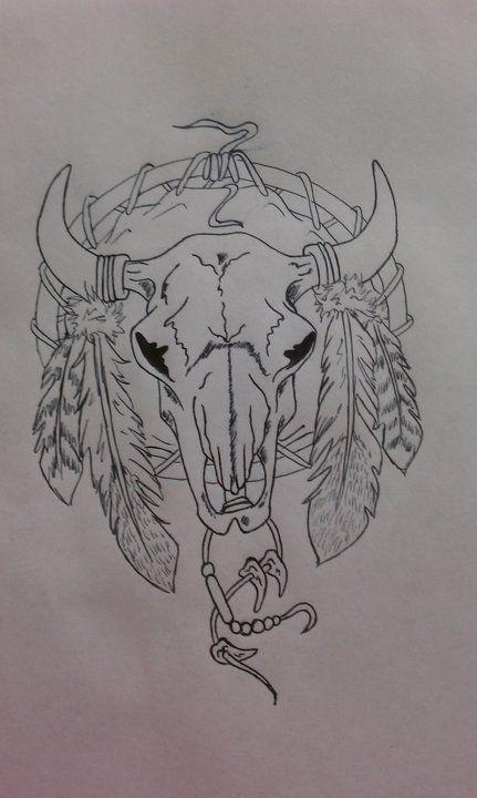 Skull Dreamcatcher By Inspired325 D4d586d Jpg 431 720 Bull Skull Tattoos Indian Skull Tattoos Cow Skull Tattoos
