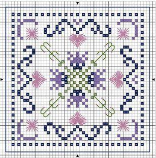 BISCORNU, ALFILETEROS, GUARDATIJERAS, ....A PUNO DE CRUZ | Cross stitch flowers, Cross stitch ...