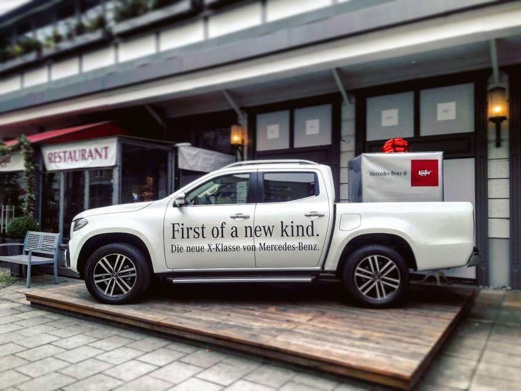 First of a new kind. Die neue X-Klasse von Mercedes-Benz. Bestaunt ...