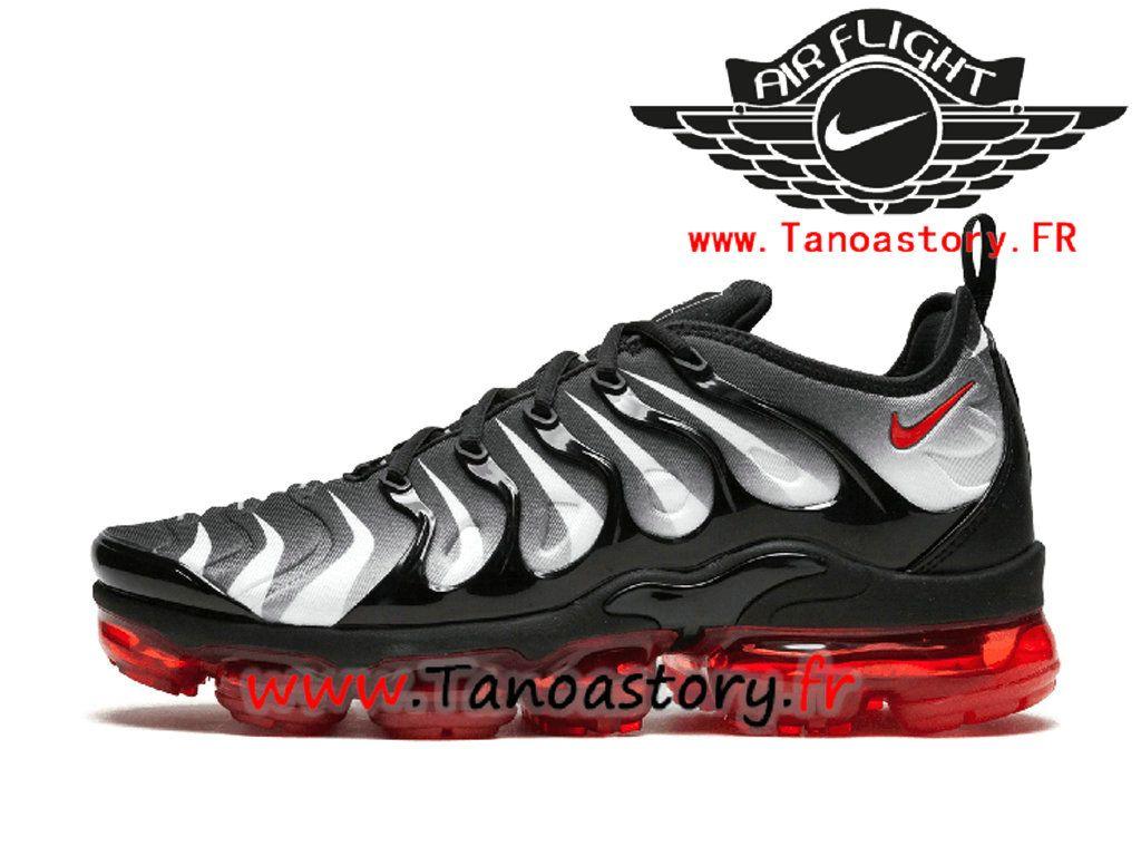 fabf7ac78095a Chaussures Officiel Basket Homme Nike Air VaporMax Plus Noir Rouge Pas Cher  AQ8632-001-