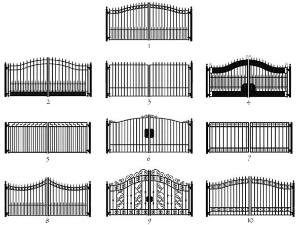 Wrought Iron Entrance Gates Dallas-Fort Worth kerítés fából