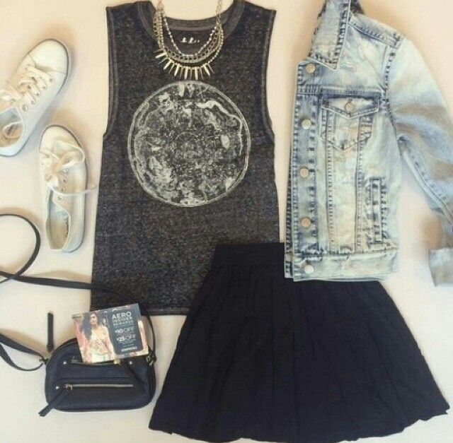 Jeans and Black - Rock Casual Converse