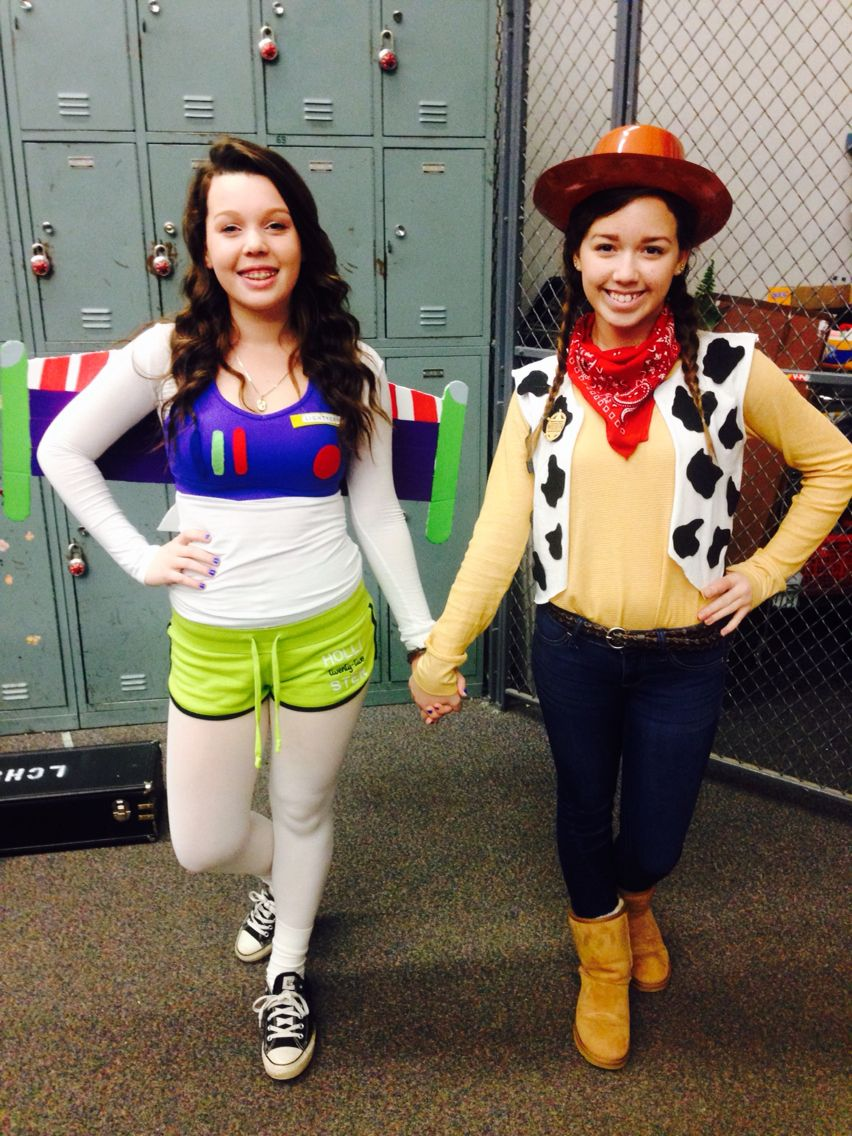 diy buzz lightyear and woody costumes! dynamic duo day for
