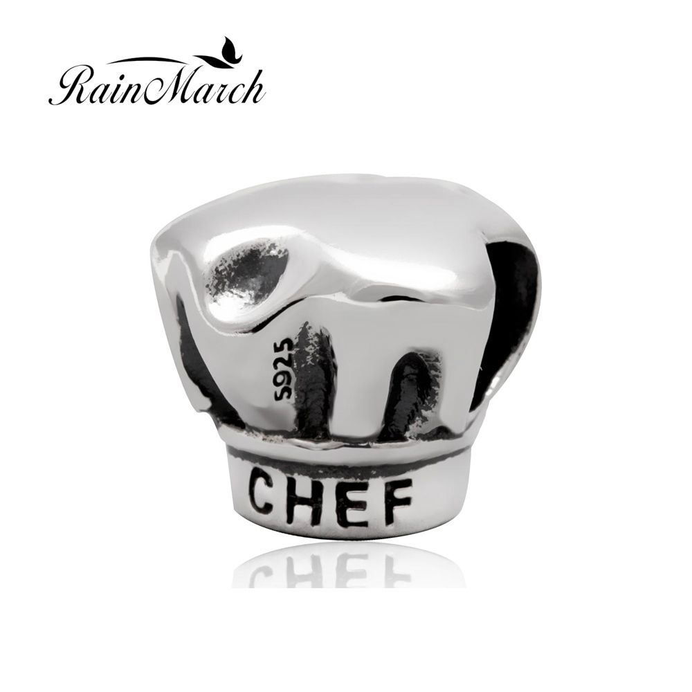 d2d934971f8 Original 925 sterling silver chef hat charms diy jewelry beads Fits for  Pandora Bracelet free shipping  Affiliate
