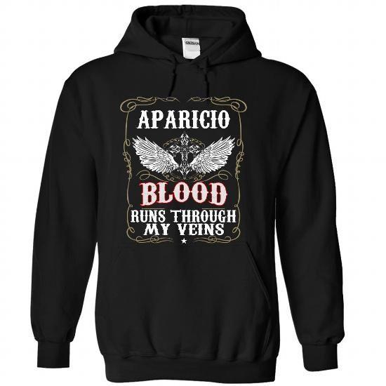 (Blood001) APARICIO - #gift ideas for him #handmade gift. OBTAIN => https://www.sunfrog.com/Names/Blood001-APARICIO-fgzaqwacpq-Black-49972365-Hoodie.html?68278