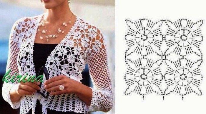 boleros-crochet (16) | tejidos telar- crochet | Pinterest | Häkeln