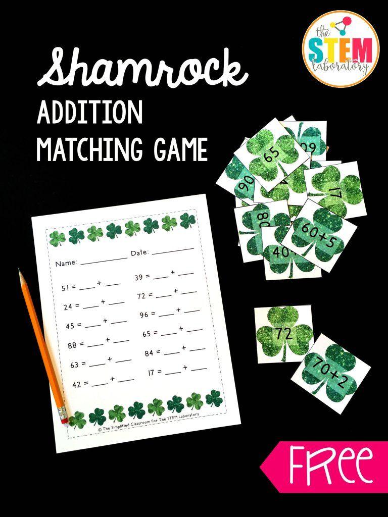 Shamrock Addition Game The Stem Laboratory Addition Games Math Centers Kindergarten Math Stem Activities [ 1024 x 768 Pixel ]