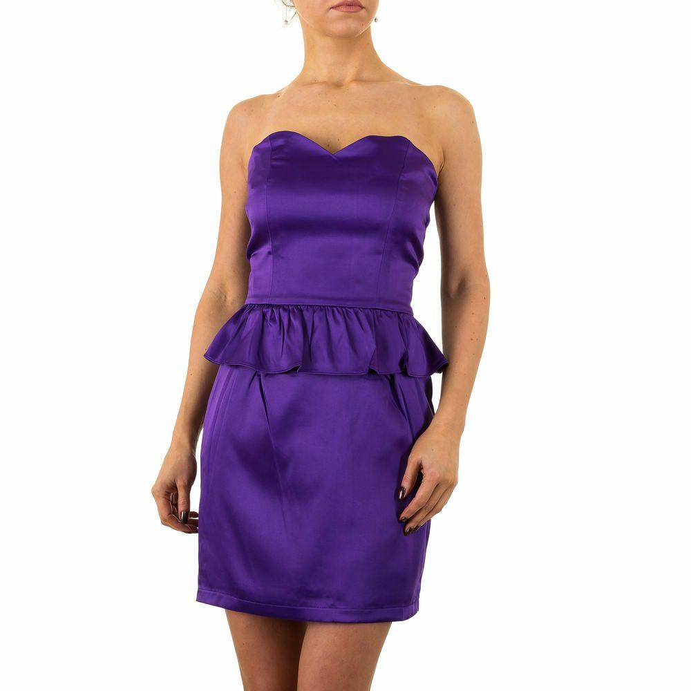 Kurzes Volant Damen Kleid 34 Violett 1770 Ebay Kleider Sommerkleid Kleid 34
