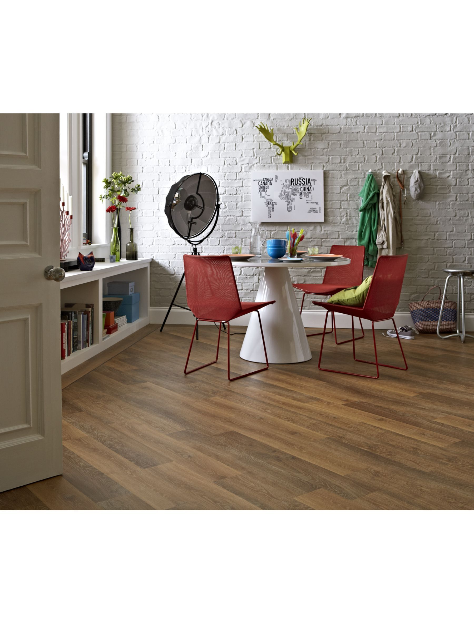 Karndean Knight Tile Wood Vinyl Flooring, Classic Limed