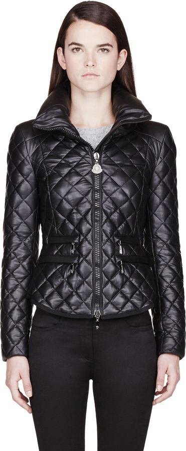 Moncler Black Leather Quilted Jacket http://www.shopstyle.com/action/apiVisitRetailer?id=438024422&pid=uid2641-265879-39