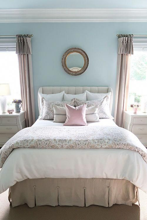 New Blush and Gray Master Bedroom for Fall