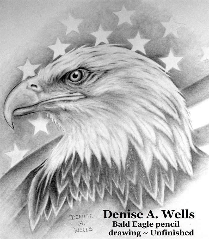Bald Eagle and American Flag tattoo design by Denise A. Wells ...