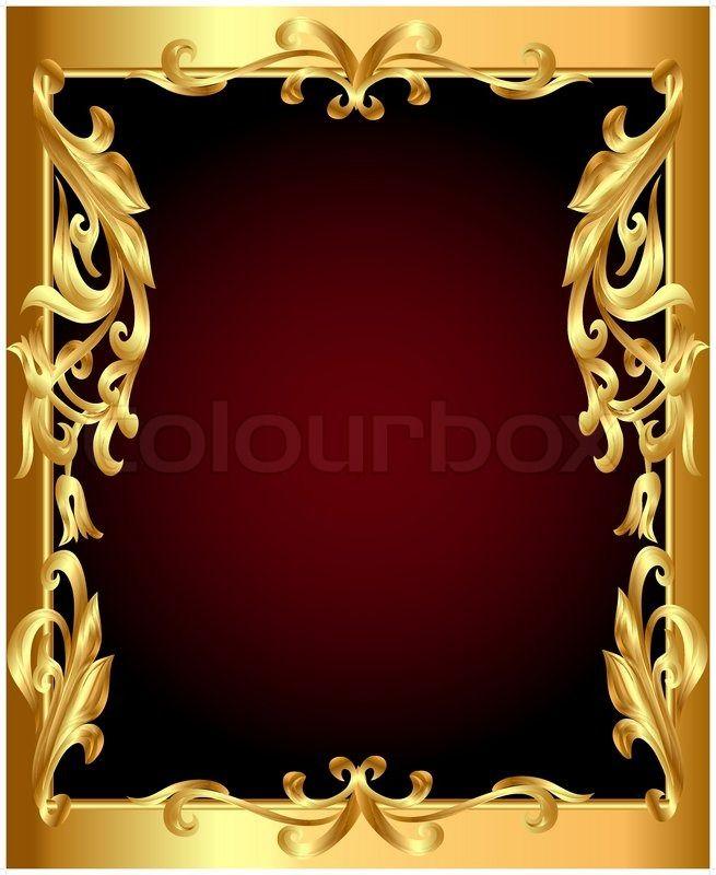 Stock-Vektor von \'Goldener Rahmen mit goldenen pflanzliche Ornament ...