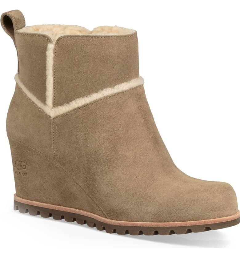 UGG® Marte Waterproof Wedge Bootie (Women | Boots, Ugg boots