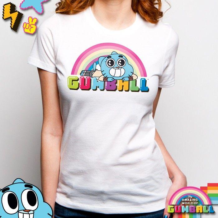 ShopGoodie.com - The Amazing World of Gumball - Ladies Sweet Rainbow T Shirt, $24.95 (http://shopgoodie.com/the-amazing-world-of-gumball-ladies-sweet-rainbow-t-shirt/)