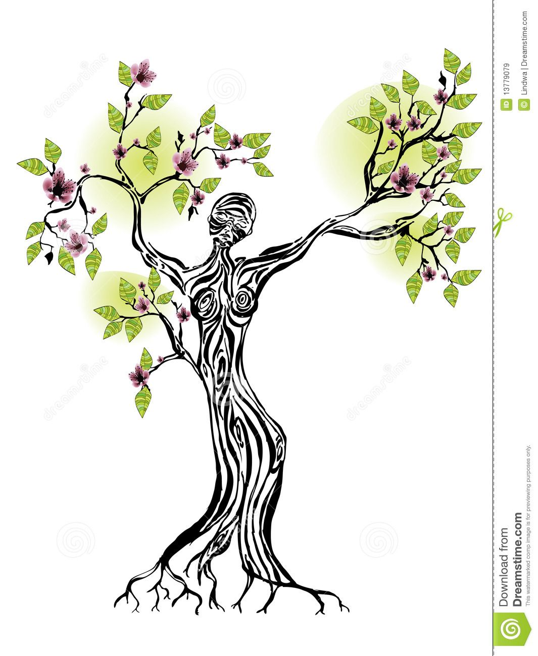 Female Silhouette Tree Of Life