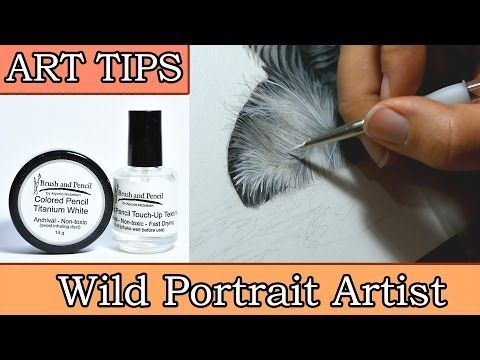 How to get white lines and details in colored pencil ...