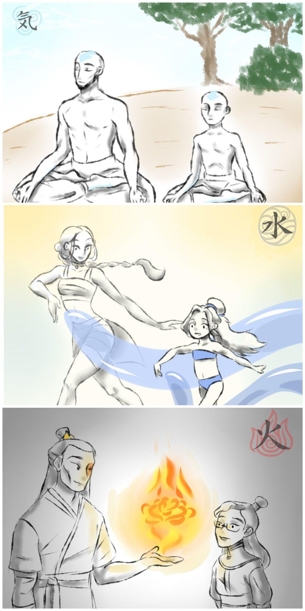 Tenzin, Kya & Izumi Training with their Parents #avatarthelastairbender
