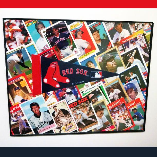 Boston Red Sox Baseball Handmade Collage Wall Art Display In 11x14 ...