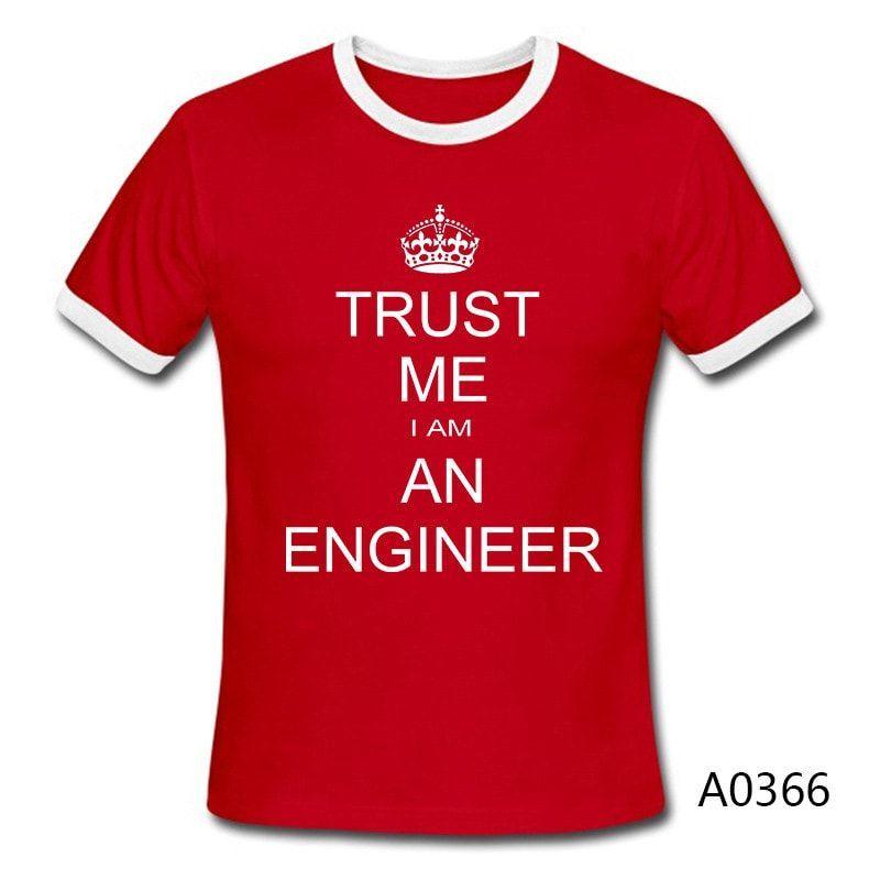 Keep Calm Trust Me I Am An Engineer Graphic Short Sleeve Shirt