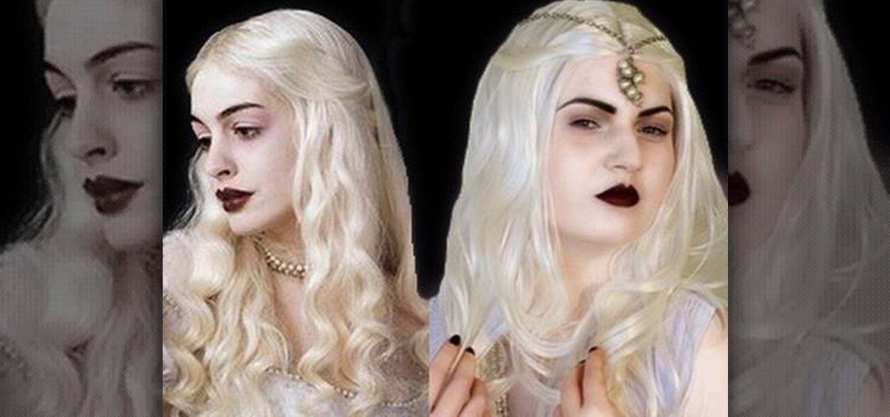 How To Recreate The White Queen Look From Alice In Wonderland With Images Alice In Wonderland Makeup Halloween Alice In Wonderland Wonderland Makeup