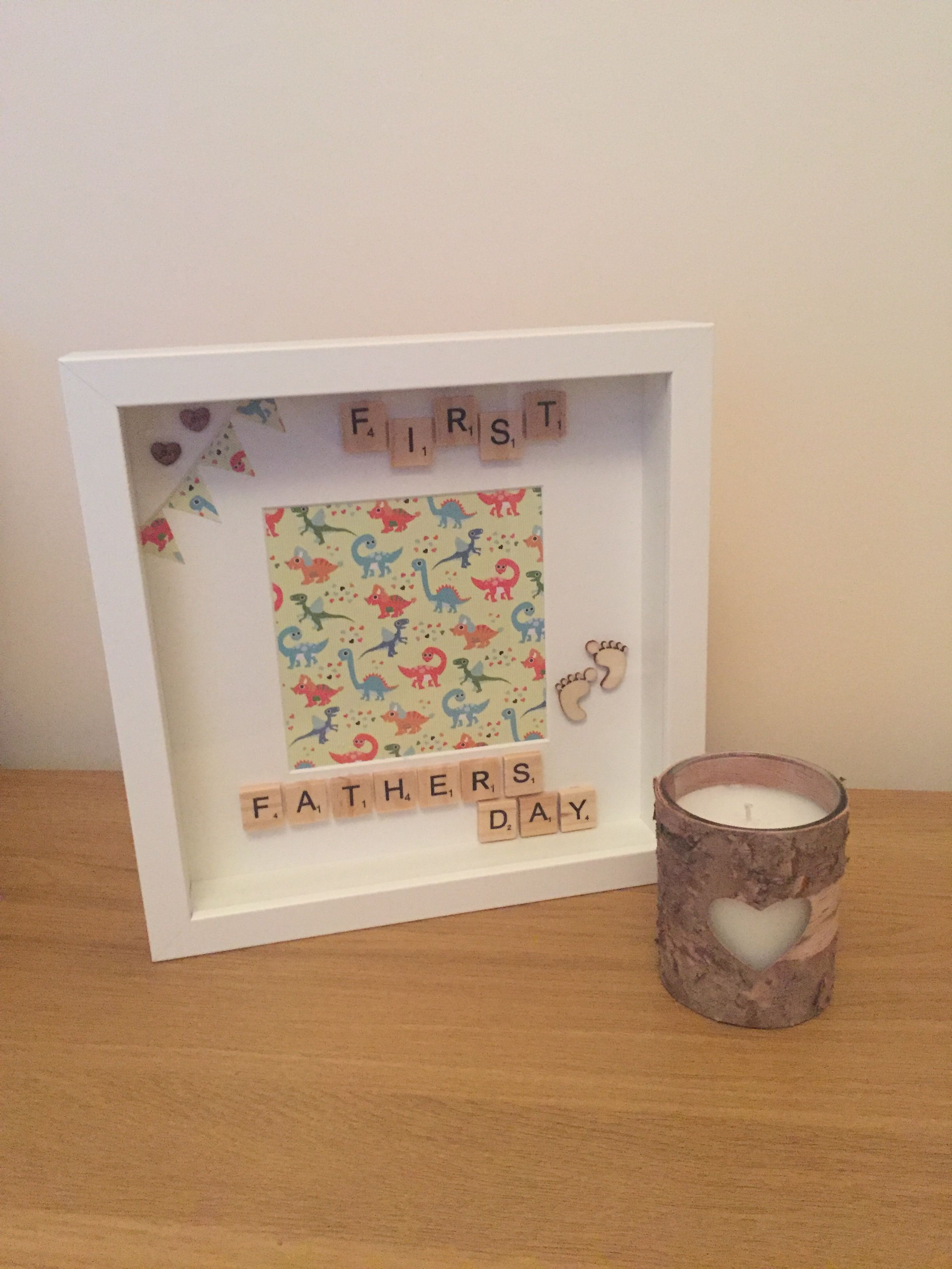First Fathers Day Frame - scrabble / handmade frame £20.00 https://m ...