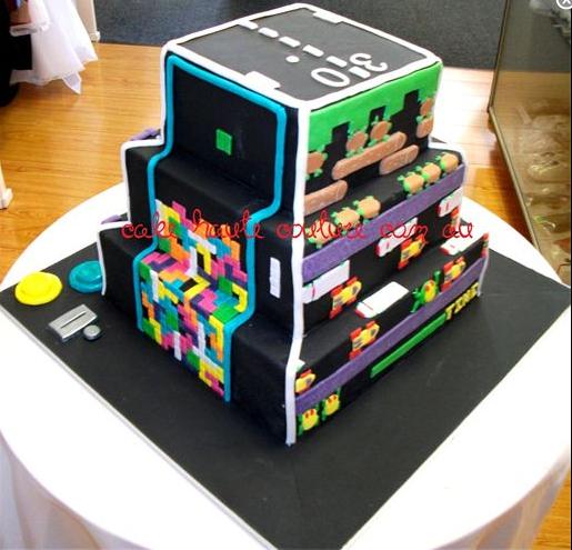 Excellent Gaming Cake Video Game Cakes Gamer Wedding Cake Gamer Wedding Funny Birthday Cards Online Inifodamsfinfo