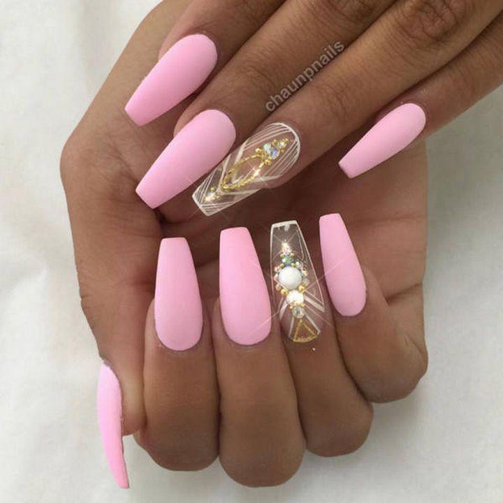 20 Matte Nails - Perfect pink matte nails.