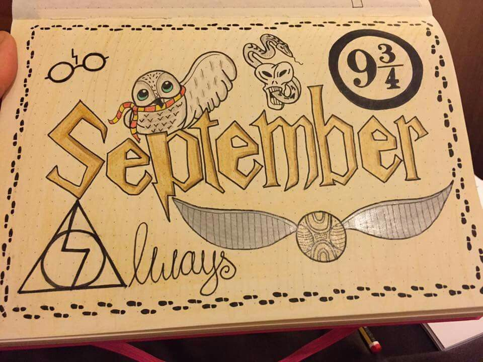 Deckblatt Schule Schule September Deckblatt Harry Potter Journal Deckblatt Bullet Journal Deckblatt