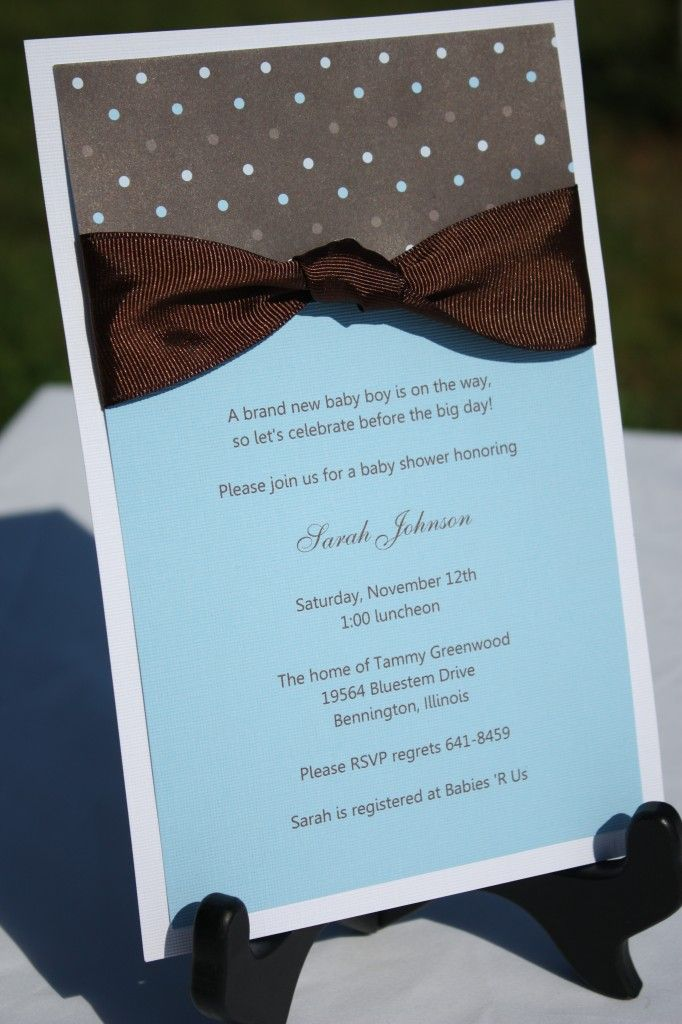 Making Your Own Invitations Baby Shower Boy