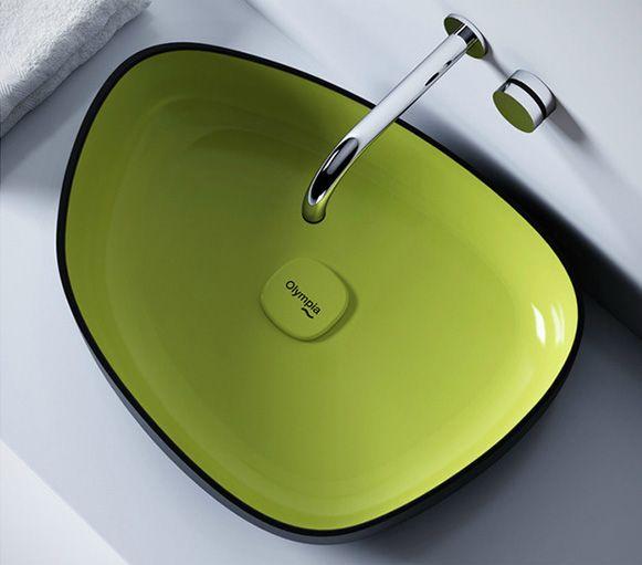 Farbige Waschbecken   Einrichtungs Ideen   Wash basin, Countertop washbasin, Modern bathroom sink