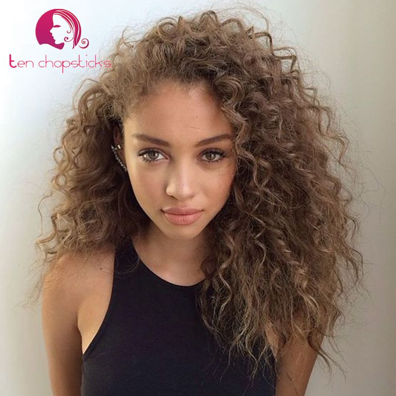 result light brown curly