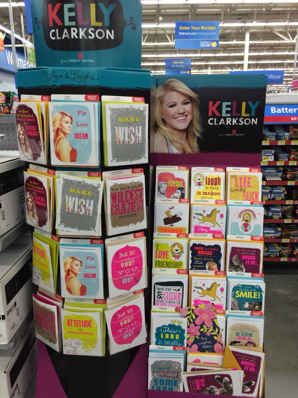 Kelly Clarksons Greeting Cards Exclusively At Walmart Anything