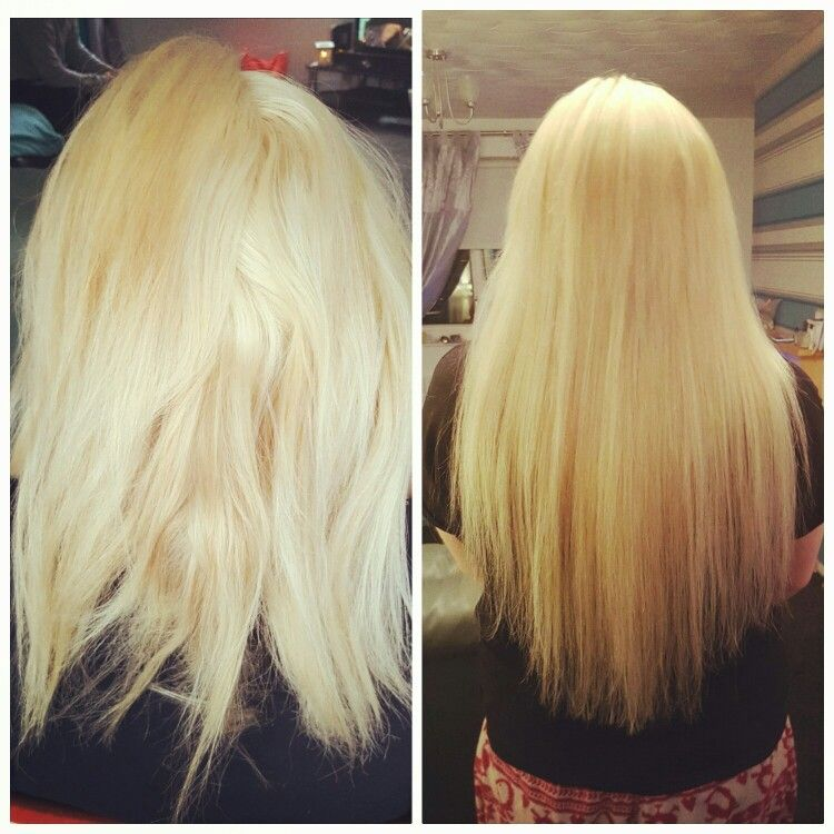 Before and after Grade 3A Remy 20 inch micro weft £115 ALL