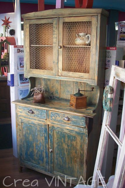 Crea Vintage Alacena De Cocina Furniture Rustic Furniture Diy Pallet Furniture