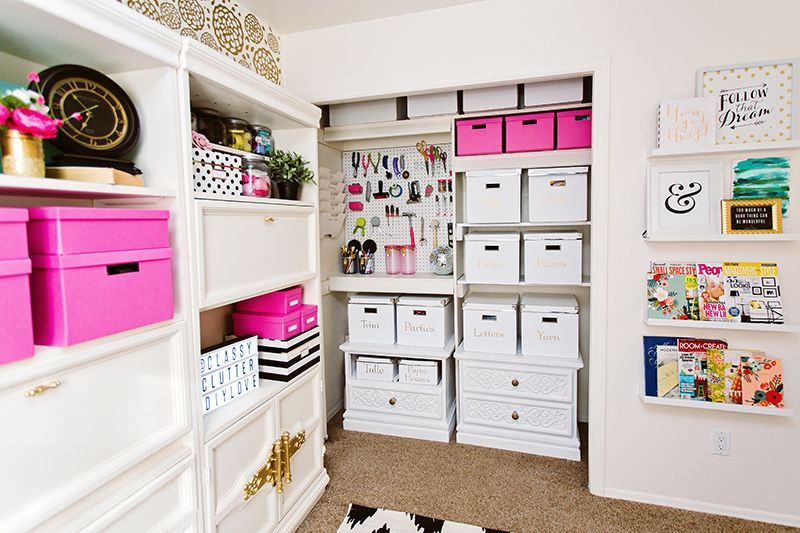 The Classy Clutter Craft Studio Reveal #craftroommakeovers