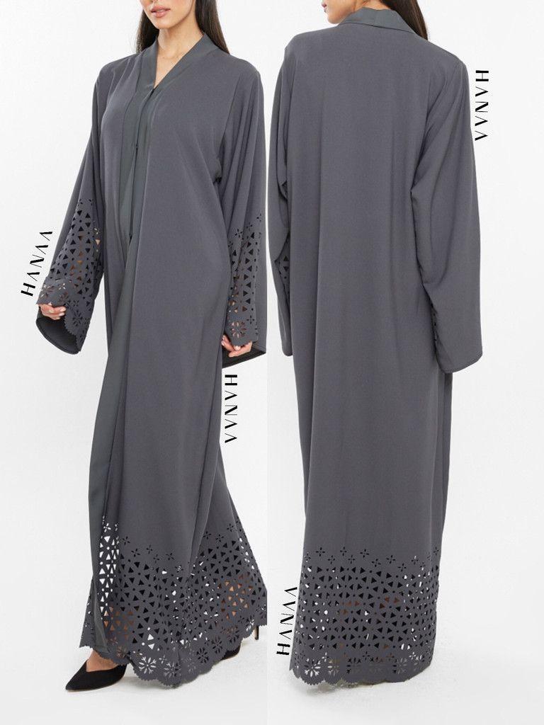 Ria Lasercut Open Abaya