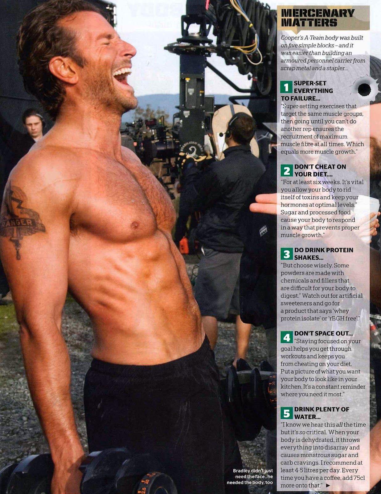 Bradley Cooper's Workout | garrettKIMBALL's body, mind, soul things
