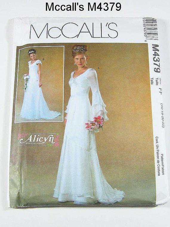 mccalls m4379 | McCalls Wedding Dress Pattern M4379 - Misses ...