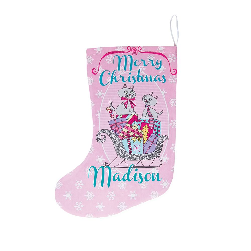 This decorative personalised Christmas stocking is perfect for filling with small objects. Some lollies, hair accessories even a match box car. A great idea to hang on a Christmas tree, across a mantel piece, or somewhere just to display. Great for everyone of all ages. A unique Kris Kringle gift. A perfect idea for a babies first Christmas. See more at: http://host13.shoppepro.com/~tigesand/item_169/Christmas-Stocking--Christmas-Cats.htm#sthash.E9wBYPlD.dpuf