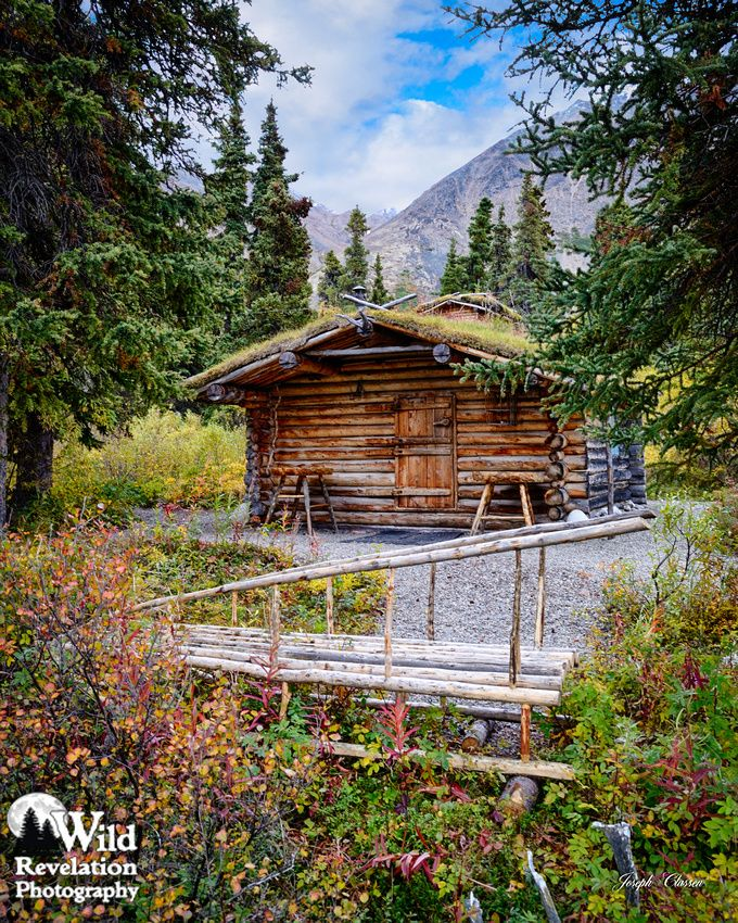 The Famous Dick Proenneke Cabin And Sled At Twin Lakes
