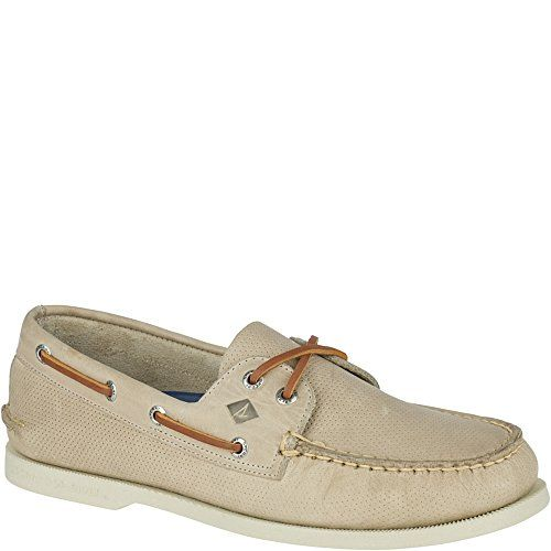 Sperry Top-Sider Men's a/o 2-Eye Perfed Boat Shoe, Cement